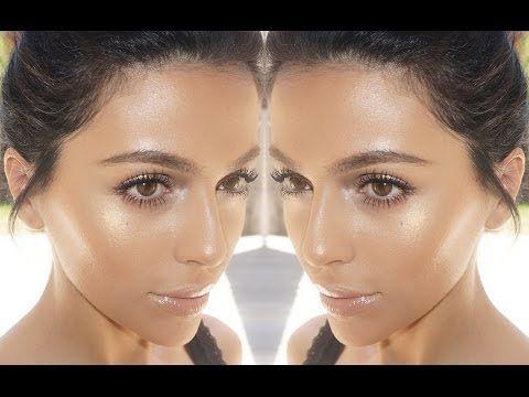 Summer Bronze Glow Makeup - seductive on lid, illuminante inner corner con pennello a punta bagnato