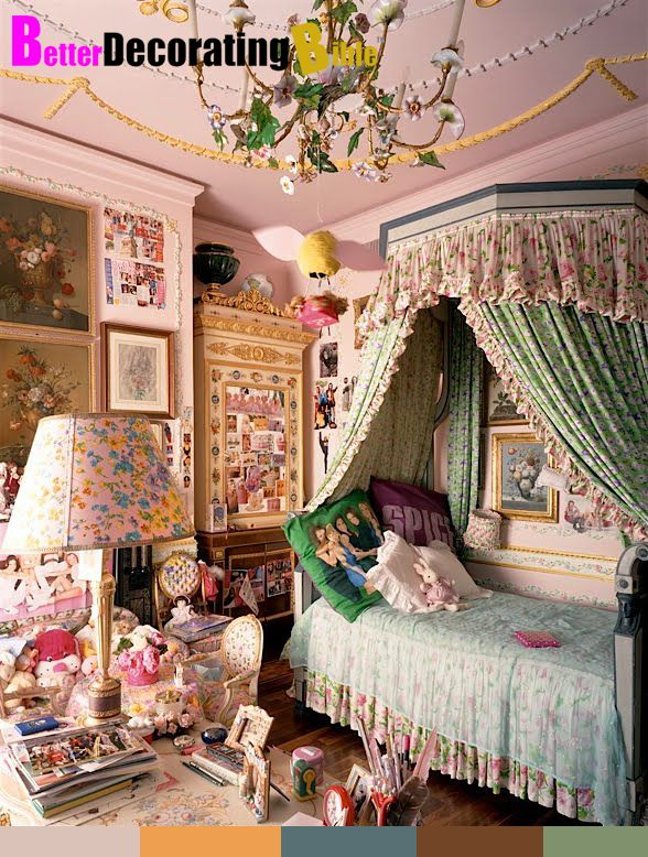 Allegra Versace's childhood room. The child in me is GREEn with envy.