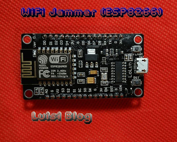Como crear un WIFI Jammer con el módulo ESP8266 programando en Arduino por tan solo un par de Euros. Incluye app para controlarlo. Rápido hackear WIFI