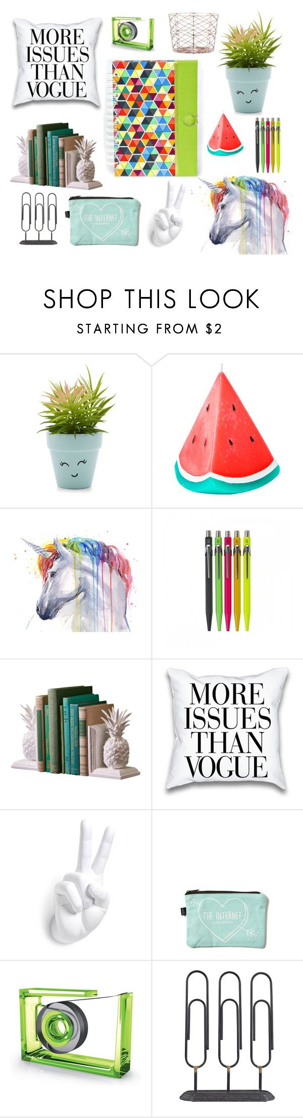 """""""Home Office #1"""" by iwona-estera on Polyvore featuring interior, interiors, interior design, home, home decor, interior decorating, New Look, Sunnylife, LEXON and Dot & Bo"""