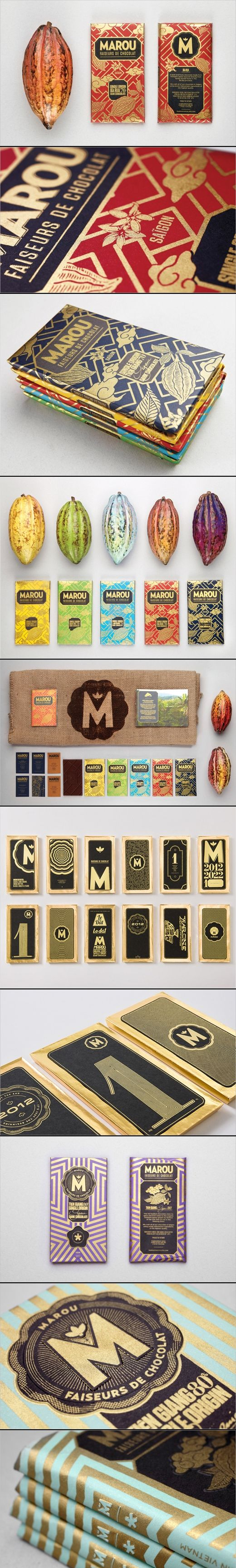 Marou Faiseurs de Chocolat /Rice Creative. oooh all this #chocolate #packaging on one pin PD