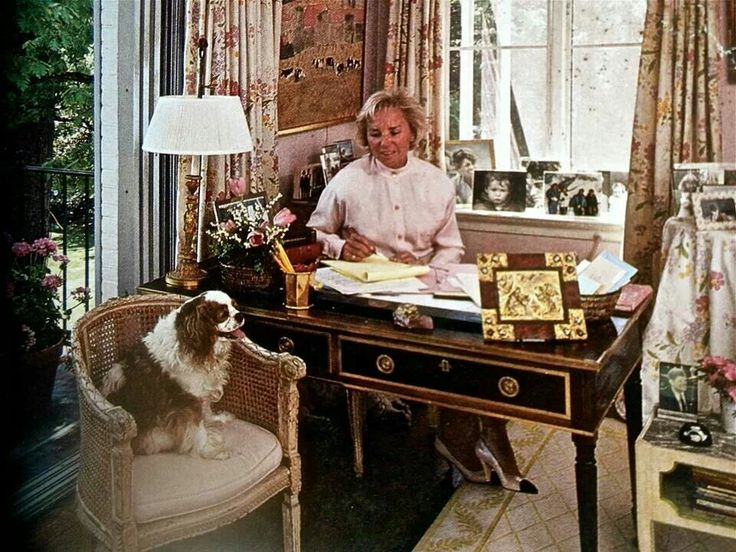 Cavalier King Charles with Ethel Kennedy.