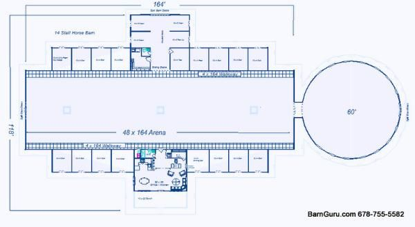 Barn plans 10 stall horse barn design floor plan for Horse barn layouts floor plans
