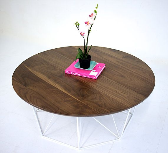 coffee table round coffee table mid century modern by