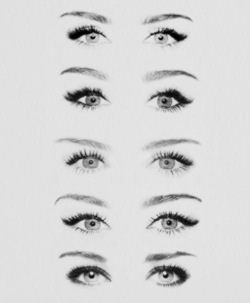 Drawing tutorial female human eyes