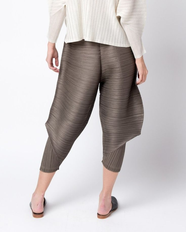 Thicker Bounce Pants in Brown by Issey Miyake Pleats Please at Mohawk General Store - 4