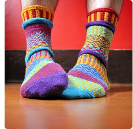 Solemate Socks from 'The Sock Lady'! These bright and cheerful socks are perfect for snuggling your toes into, whether you're going out or staying in. Everyone loves to get a pair of Solemate Socks!
