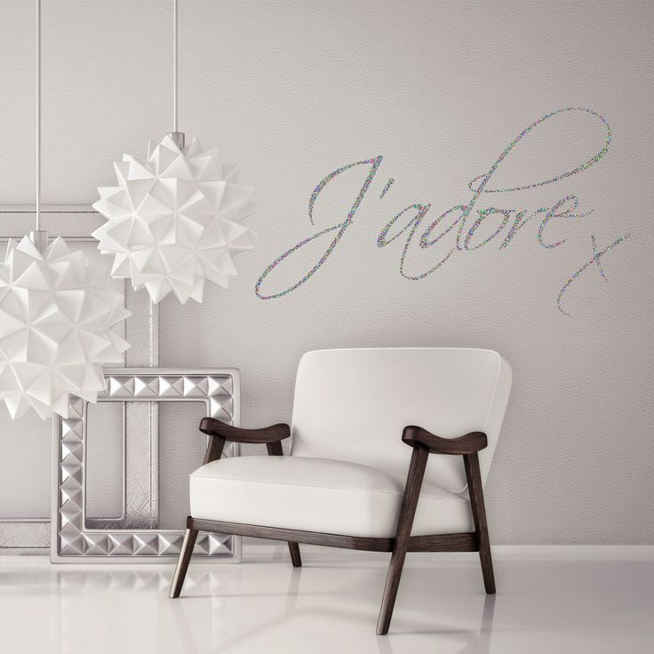 J'adore (Love) Quote Sparkly Glitter Wall Sticker | V&C Designs – V&C Designs Ltd #homedecor #sparkle #quote #vinyl #sticker #decal