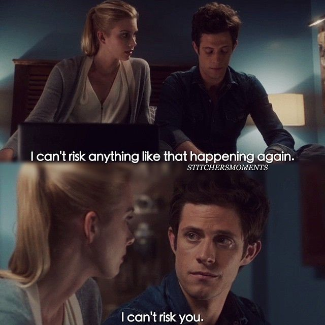 """#Stitchers 1x04 """"I See You"""" - Kirsten and Cameron. #6/23/15"""