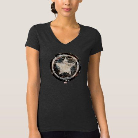 Captain America Grunge Shield T-Shirt - click/tap to personalize and buy