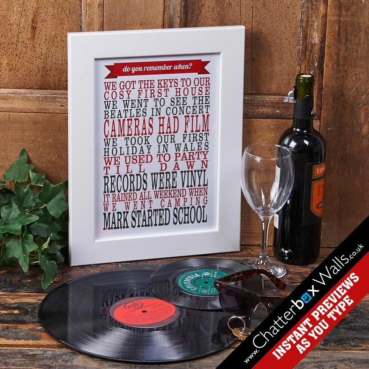 Personalised Traditional Remember When Framed Print with your words