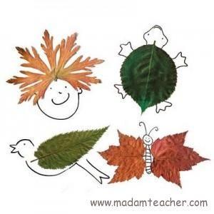 Sonbahar yaprağı etkinlikleri