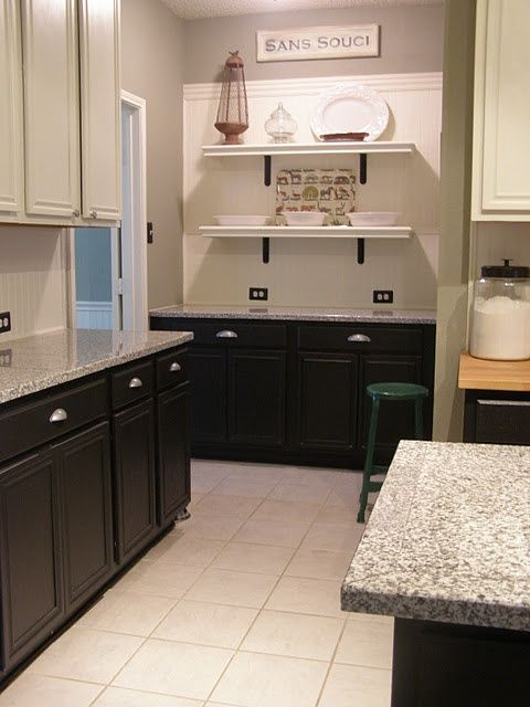 Kitchen Cabinets Different Colors Top Bottom : Best images about kitchen on pinterest stone