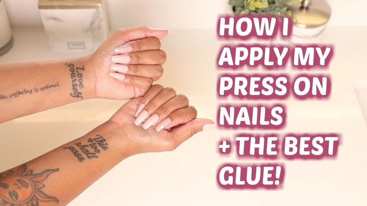 PRESS ONS THAT LAST!? Application + The BEST Glue