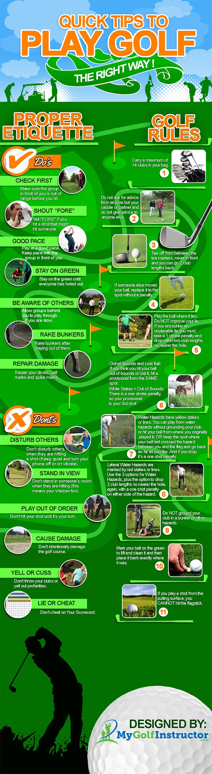 Quick Tips to Play Golf the Right Way