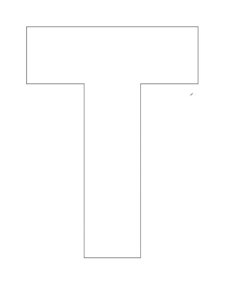 Printable Alphabet Letter T Template! Alphabet Letter T Templates are