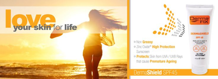 DermaShield SPF45 is an Oil-Free Formulation and helps to protect the skin from UVA/UVB Rays
