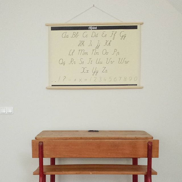 Schoolplaat Alfabet/Tafels 2-zijdig New { €25 }