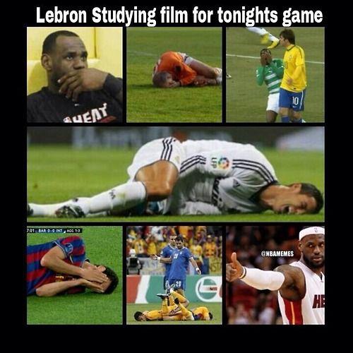 LeBron James getting ready for Game 5! #MiamiHeat - http://nbafunnymeme.com/nba-memes/lebron-james-getting-ready-for-game-5-miamiheat