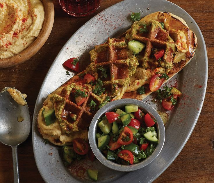 Meet The Fawaffle: A Waffled Falafel And Hummus Recipe | Substitute AP GF flour blend for 2T listed in recipe