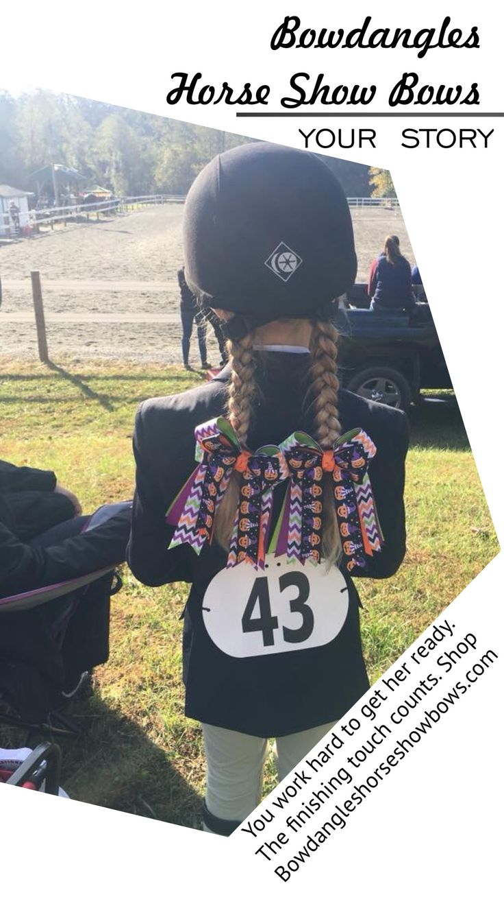 Equestrian style at a horse show means the right hair bows for girl riders. These Bowdangles Horse Show Bows are bright, stylish, and sure to be appreciated by the judge.