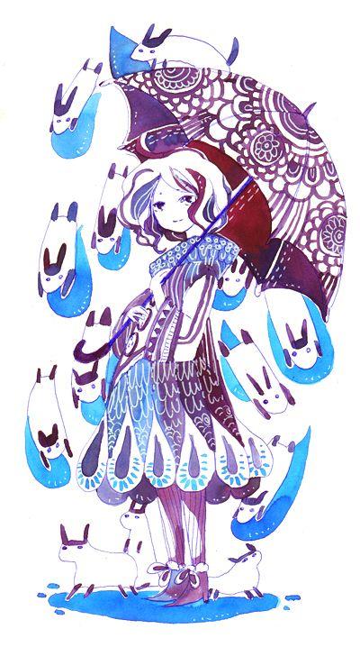 raining animals by koyamori on deviantART