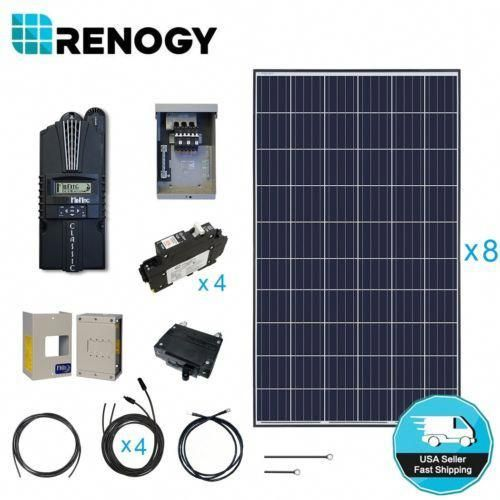 Renogy 2100 Watt Solar Panel Cabin Kit 2000w 24v Off Grid System W Midnite Mppt Solarpanelkits Solar Panels Solar Solar Power Panels