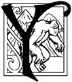 Fantasy Decorative Initials Alphabet * Art & Poem by Selina Fenech - Y is for Yeti, the white ape of cold heights.  http://fairyfantasyart.com/freefairygraphics.html