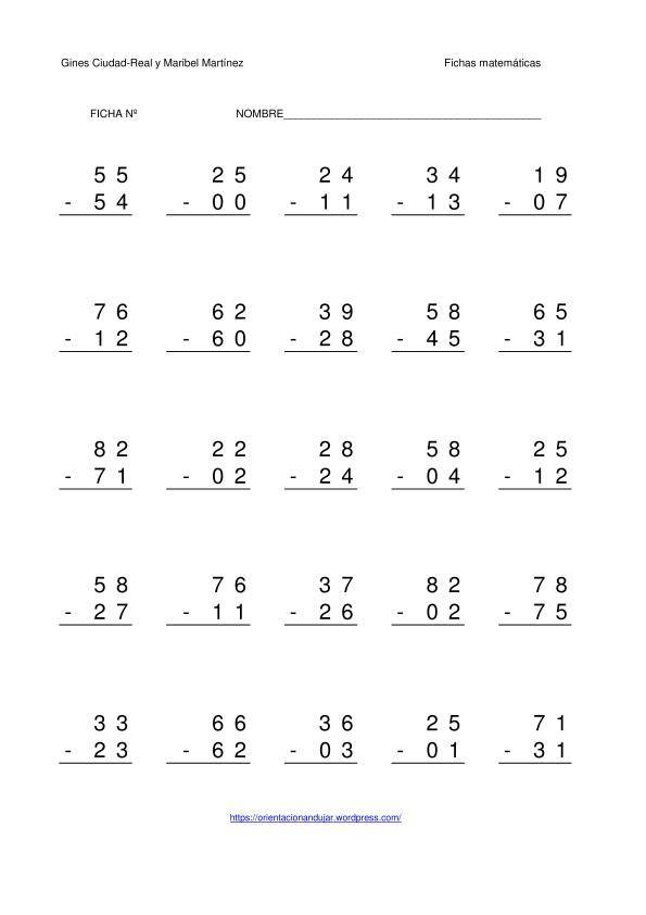 Matemáticas. Fichas para descargar e imprimir - casi todo para primero