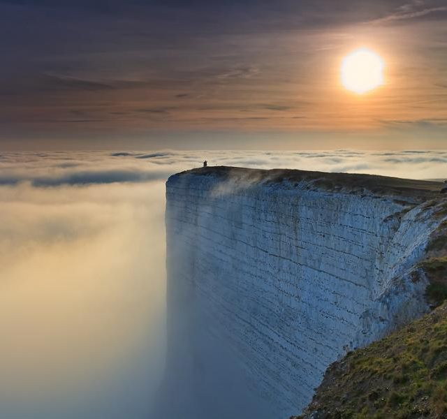 A walk in the clouds. East Sussex, Uk.