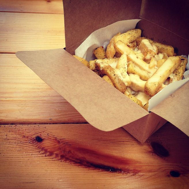 The best cheesy chips of my life! @ Surf Riders Food Shack on South Beach, Durban. Click for the full restaurant review.
