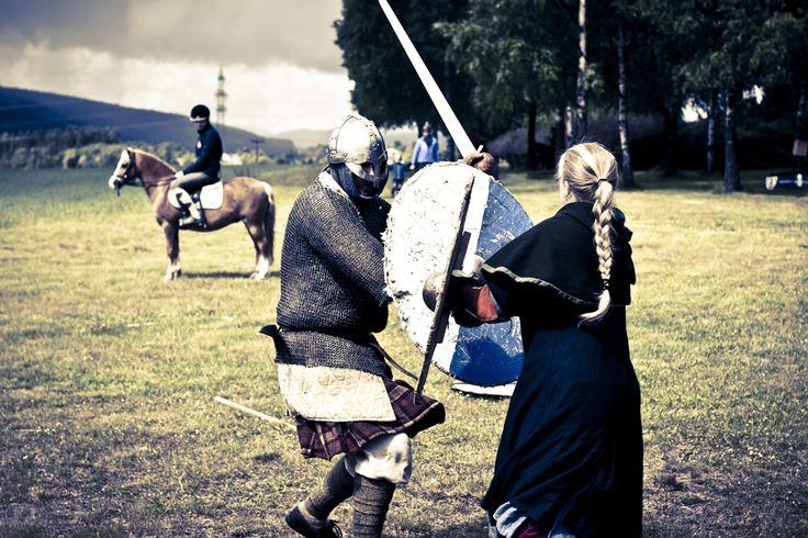Vikinger på Veien Kulturminnepark, Hønefoss, Norway