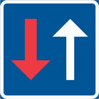 B7 – Mötande trafik har väjningsplikt