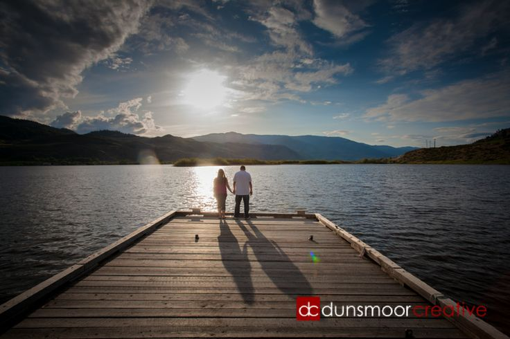 Late day engagement shoot down at the dock on our couple's property. Amazing light!