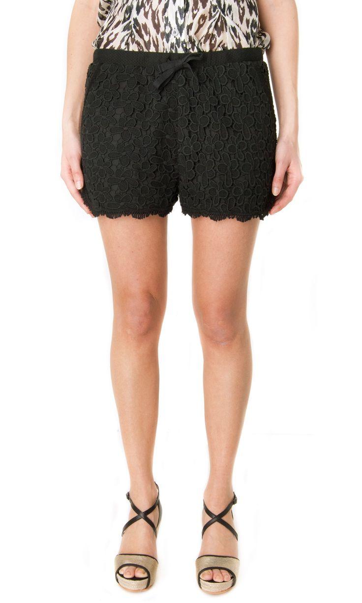 Sea NY Floral Lace Shorts