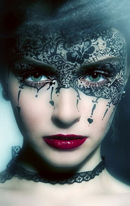 Masquerade ♥ Black Painted Mask