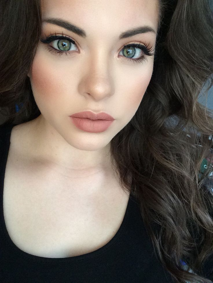 natural makeup with peach cheeks and neutral lipstick ~ we ❤ this! moncheriprom.com