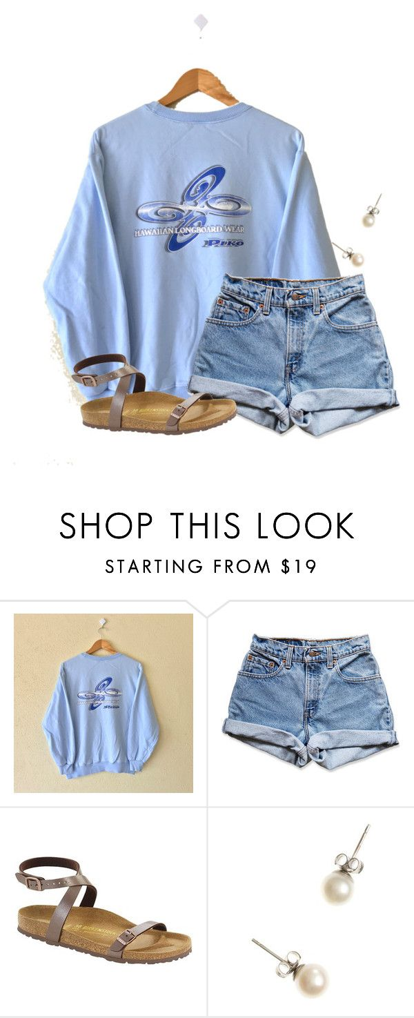 """""""I love going to Goodwill for thrift shopping"""" by flroasburn on Polyvore featuring PIKO, Levi's, Birkenstock and J.Crew"""
