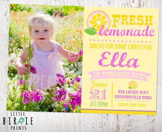 26 best Lemonade Party THEME images on Pinterest Lemonade - fresh birthday invitation baby girl