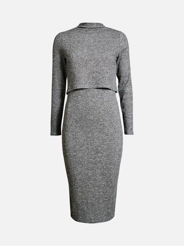 Shippy dress | | Melert grå | BikBok | Norge