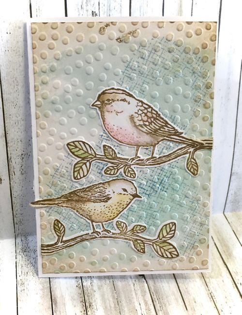 This week I have focused on another of the new bundles from Stampin' Up! The Best Birds stamp set coordinating framelits and I had already ...