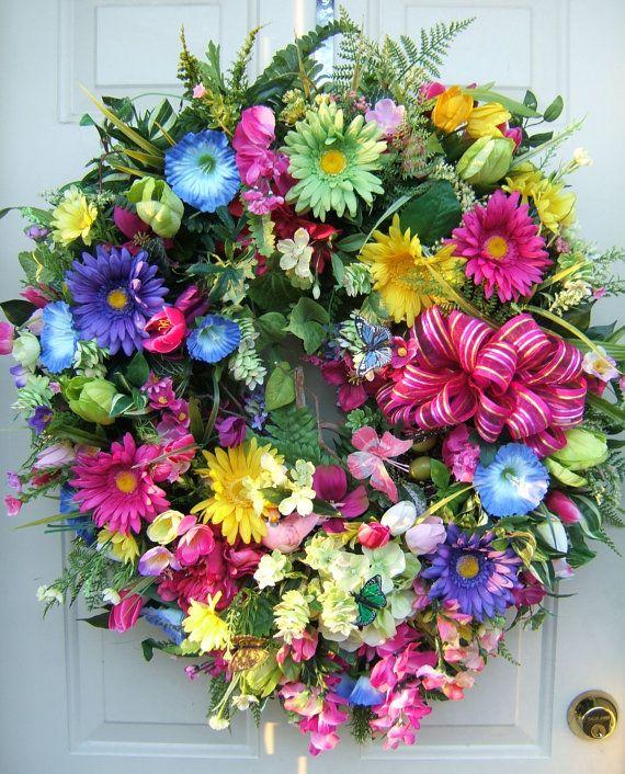 Xl Spring Wreath Fiesta Wreath Easter Wreath Beautiful