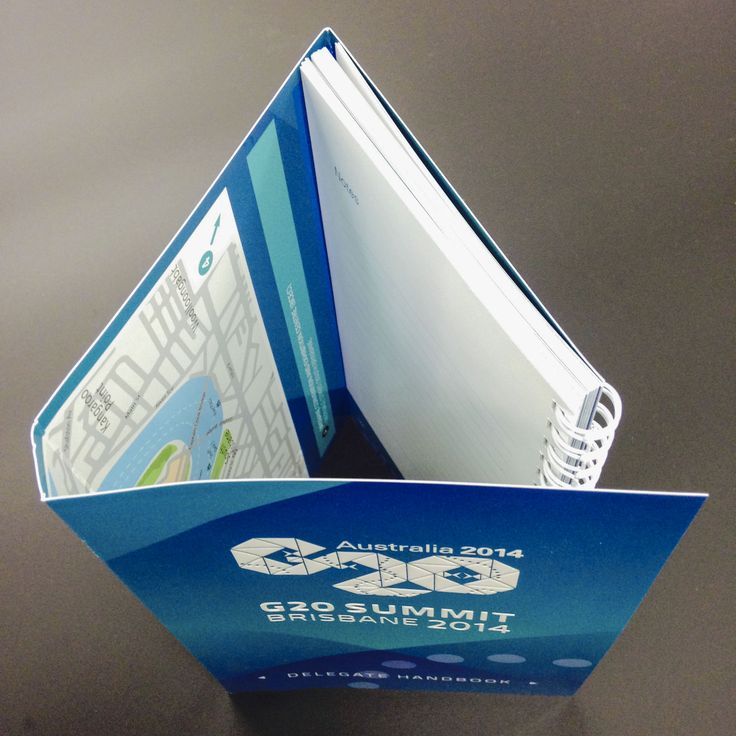 Great use of a Wraparound Cover for the G20 Summit in Brisbane. Daroji UV Screenprinted & bound a series of 3 booklets  for the Brisbane G20. Each  booklet opens up to show a map of Brisbane city inside the cover. Visit www.daroji.com.au for more information. #daroji #printfinishing #cover #UVscreenprinting #looseleafbinding #BrisbaneG20