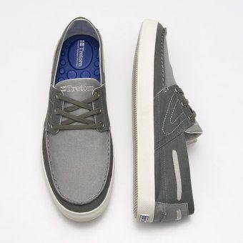 Otto Canvas - Men's Boat Shoe Sneaker Gray - classic