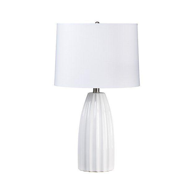 Ella White Ceramic Table Lamp Reviews Crate And Barrel White Table Lamp Table Lamp Lamp