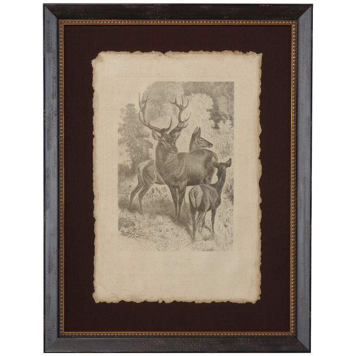 Chelsea House 30-0092B The Family Distressed Gold and brown Frame Art