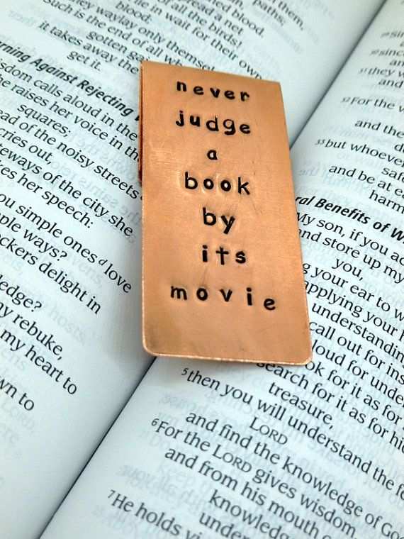 Never judge a book by its movie #bookmark 2