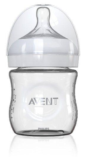 Biberon Natural verre 120ml silicone, anti-colique 0%BPA