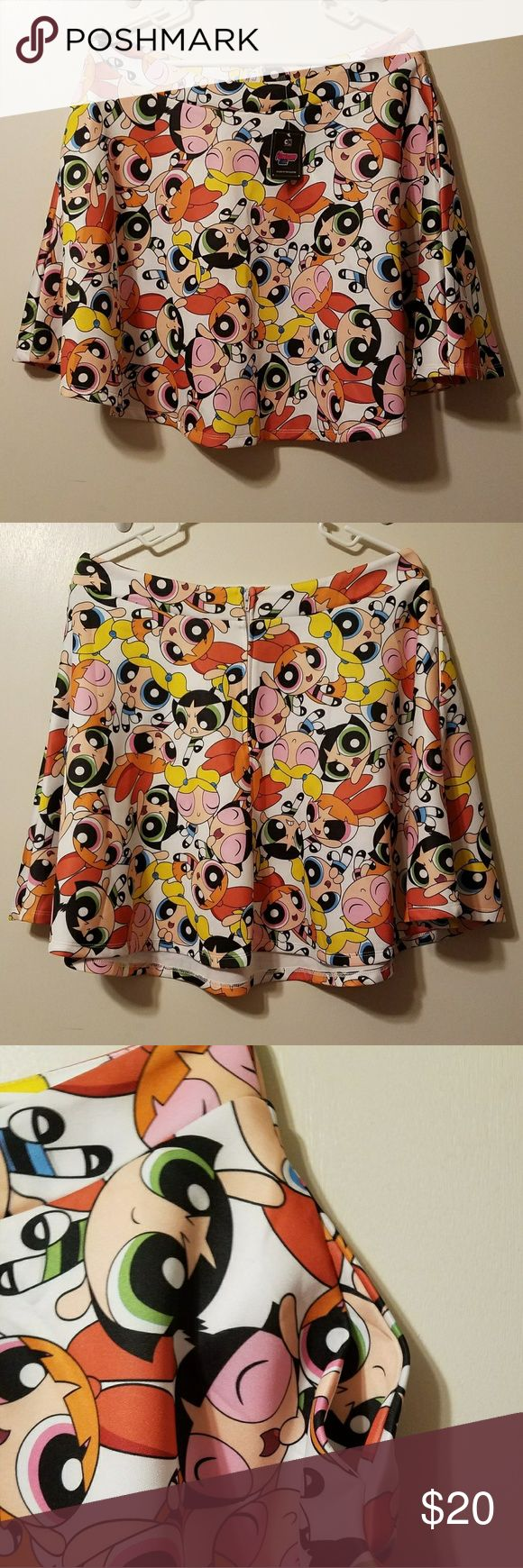 Power Puff Girls Skirt Best Part: IT HAS POCKETS!!! Zips up in the back. Hot Topic Skirts Circle & Skater
