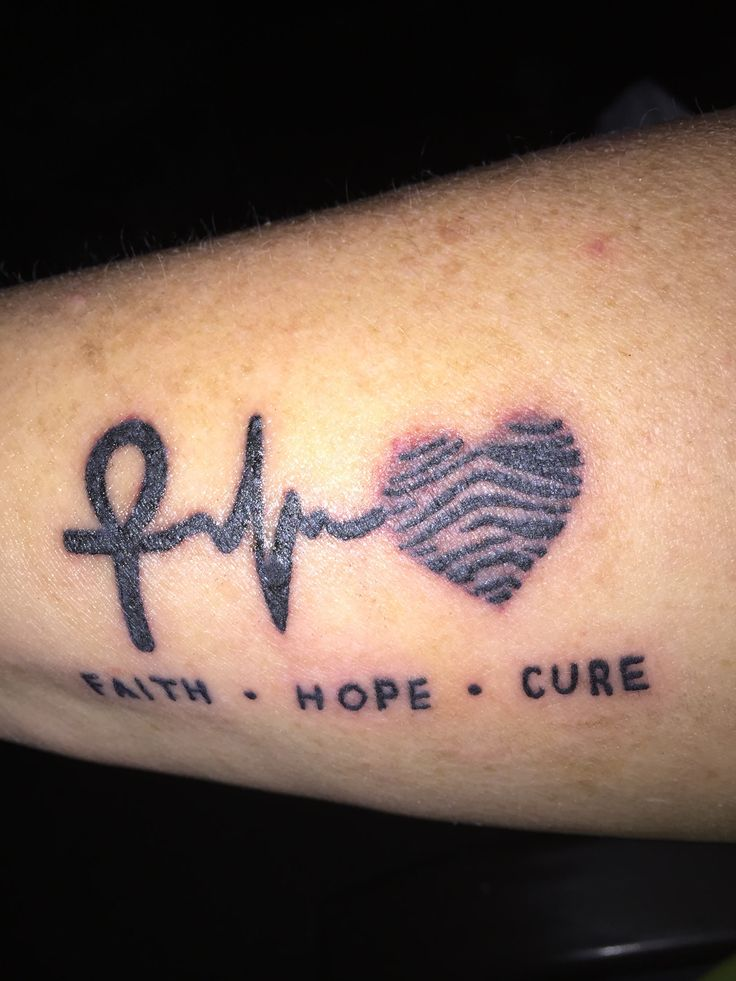 I have a rare cancer and there is no cure. My hope by spreading this tat is that more people are know about it and we can find a cure!! Go Zebras !!!